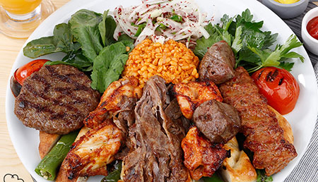 Mix Kebab platter (4 meats)