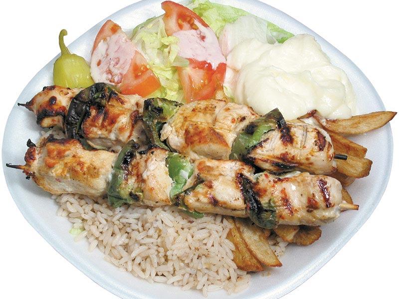 E)-- 2 platters of Kafta kabab