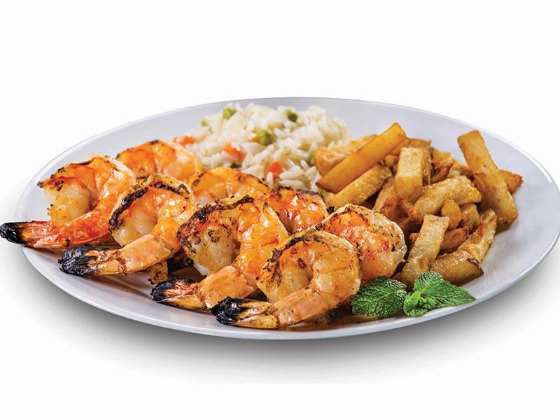 H)-- 1 platter of geant shrimps & fillet mignon platter