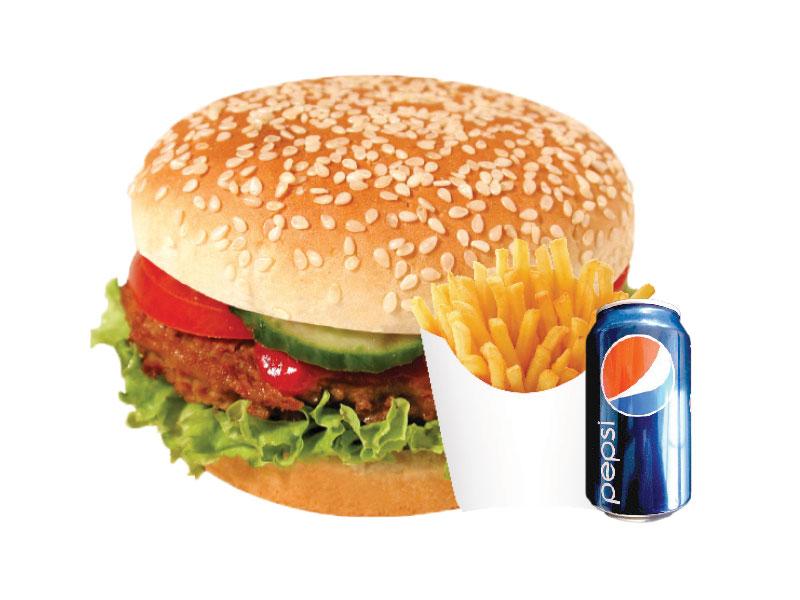 Hamburger + 1 Boisson Gazeuse