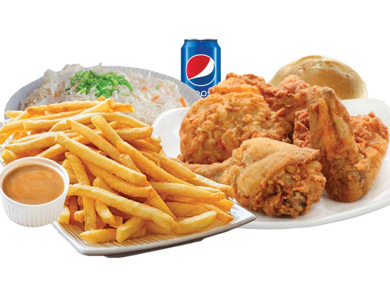 9 Morceaux poulet frits