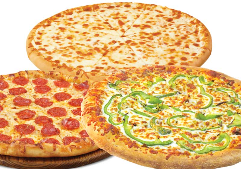 3 small pizzas 10