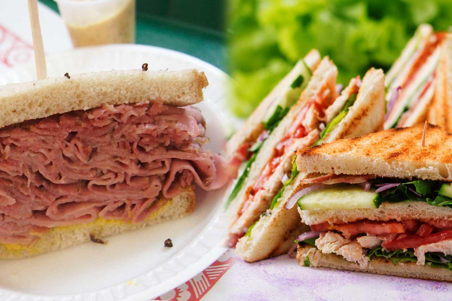 Club sandwich viandes fumées