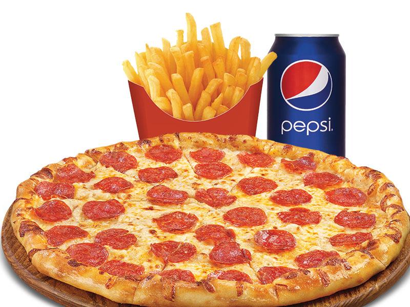 1 Petite pizza (pepperoni ou toute garnie)