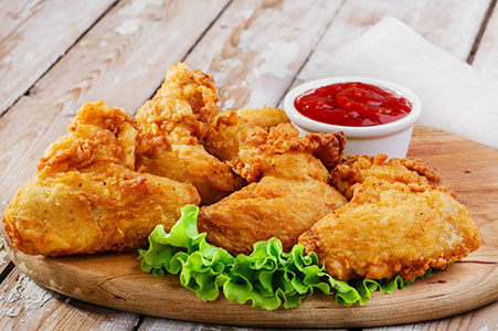 3 pcs of fried chicken