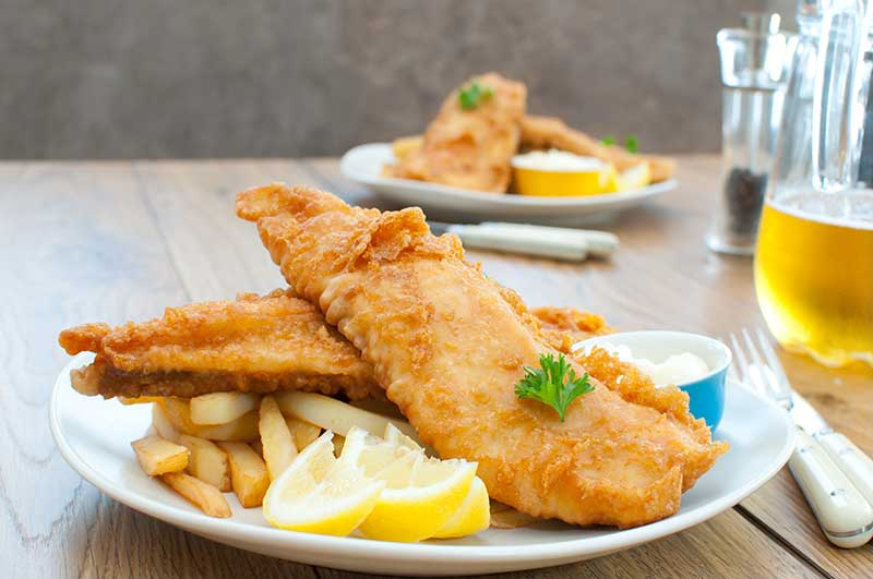 Fried Haddock Dinner