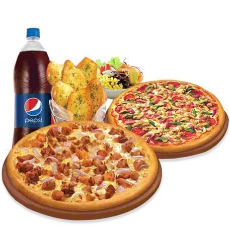 #1)  Petite Pizza + 1 Petite Poutine + 1 Boisson Gazeuse