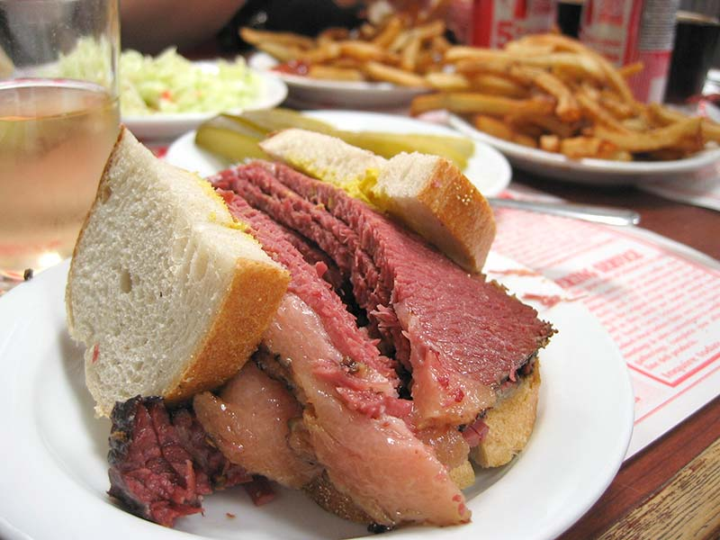 Special smoked meat sandwich
