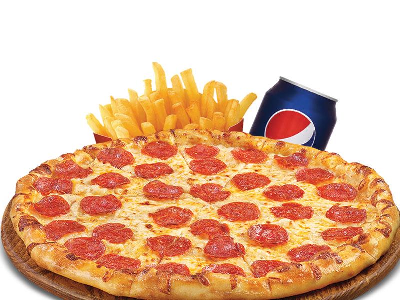 """Trio1# 1 PIZZA BAMBINO 8"""" + 1 small fries"""