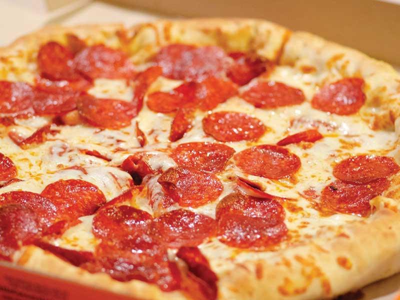 1 large pizza 14
