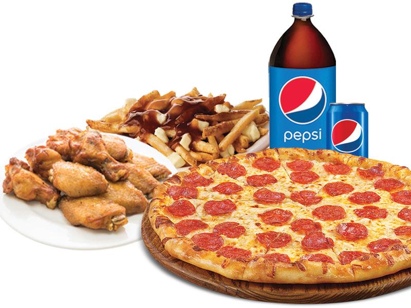 2 Pizzas x-larges 18